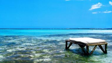 Pohled z pláže Boca Chica na moře