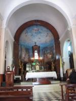 Dominikánská republika, vnitřek kostela na kopci Santo Cerro